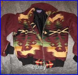 MINTCondition Vintage Pendleton Originals Womens Navajo Jacket Coat Wool Small