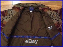 Men's PENDLETON High Grade Western Wear Wool Indian BLANKET Jacket Coat-Large