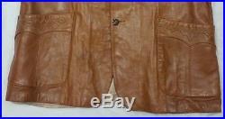 Men's Vintage SCULLY Lambskin Leather Blazer Western Style Size 48-Free Ship