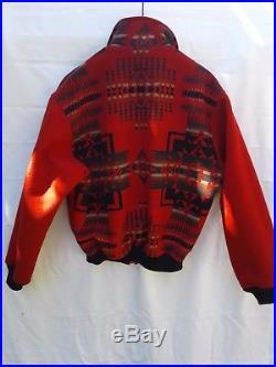 Mens PENDLETON High Grade Western Wear Wool Southwestern Blanket JACKET Coat M