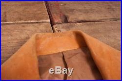 Mens Vintage 1950s Tan Leather Jacket Talon Zip Large 42 R6893