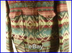 Mens XL Polo Ralph Lauren Coat Jacket Indian Blanket Serape Western Wool Blend