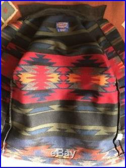 Mint PENDLETON NAVAJO SOUTH WESTERN Small S WOOL BLANKET JACKET Coat Aztec USA