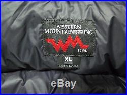 NEW WESTERN MOUNTAINEERING MELTDOWN JACKET-850 FILL GOOSE DOWN-XL-BLACK-MSRP$450
