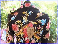 NWT$158Gorgeous Western Boho Bird Floral Embroidered Blazer JacketMPaparazzi