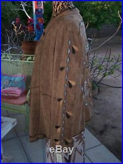 NWT$225GorgeousWestern Embroidered Faux Suede JacketL/XLTasha Polizzi