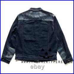 NWT Pendleton Deadstock Western Wear Wool Aztec Denim Jacket Size Large