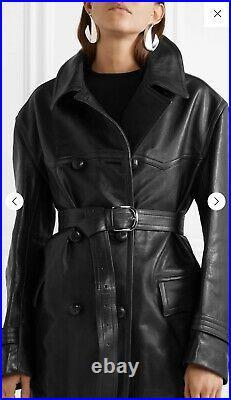 NWT RUNWAY Isabel Marant Chili Leather Trench Coat Jacket RRP $3,850 Oversized
