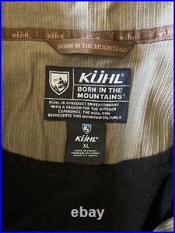 New $129 Kuhl Mens Burr Khaki Full Zip Jacket Coat Size XL XLarge Canvas 1052