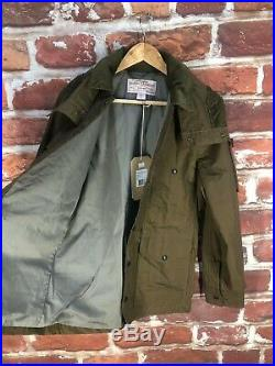 New $400 Filson XS 34 Dry Tin Cruiser Work Country Western Hooded Bomber Jacket
