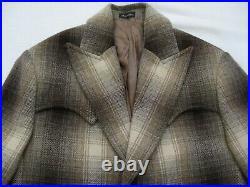 New $750 Ralph Lauren RRL Double RL Women Outlaw Western Wool Blazer Jacket Coat