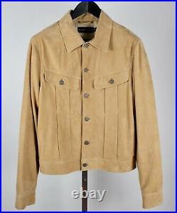 New Ralph Lauren Black Label sz M suede leather jacket coat western