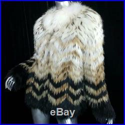 Nwt$1800theorys/mblack Blonde Genuine Real Raccoon Fur Coat Jacketnot Fox