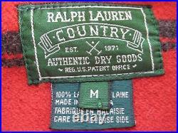 Oversize M Ralph Lauren WOMEN Aztec INDIAN Barn PEA COAT Lambs Wool JACKET men