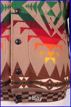 Pendleton Balancing Rock Wool Western Navajo Coat Jacket Nwts XL