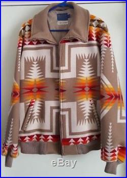 PENDLETON Beaver State High Grade Western Style Wool Blanket Jacket L Aztec Vtg