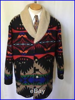 PENDLETON HIGH GRADE WESTERN WEAR Indian Blanket Coat Jacket Southwest 44