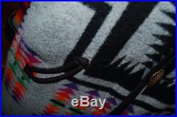 PENDLETON High Grade WESTERN WEAR Fabric Navajo REVERSIBLE CUSTOM Wool Duster XL