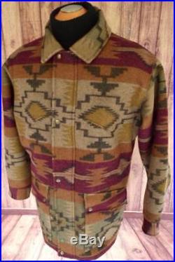 PENDLETON High Grade WESTERN WEAR WOOL Blanket JACKET Coat NAVAJO SOUTHWEST! M