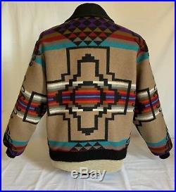 PENDLETON High Grade Western Wear, Navajo Wool Blanket Zip Jacket Coat LARGE