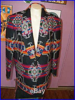 PENDLETON KNOCKABOUTS Southwestern K411 JACKET Western Coat Women's size LARGE