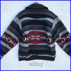 PENDLETON L Rare! VINTAGE 70's Western Wear WOOL BLANKET Jacket NAVAJO Indian