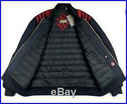 PENDLETON Mens HARDING Park Jacquard WOOL Blend Zip Front BOMBER Jacket LARGE