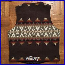 PENDLETON Mens Wool High Grade Western Wear Vest Native American Print Size M