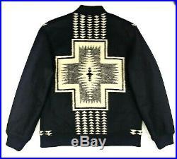 PENDLETON Mens XL HARDING Park Jacquard WOOL Blend Zip Front BOMBER Jacket