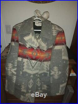 PENDLETON Rare 70's Western Wear WOOL Coat Jacket NAVAJO Indian USA medium