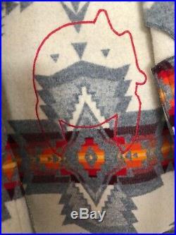 PENDLETON Rare! VINTAGE 70's Western Wear WOOL BLANKET COAT Jacket NAVAJO Indian