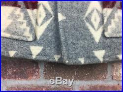 PENDLETON VINTAGE 1970's Western Wear WOOL COAT JACKET Navajo Indian RARE