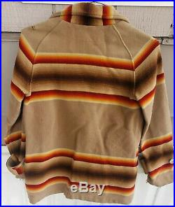PENDLETON VINTAGE 30s WOOL BLANKET COAT Jacket NAVAJO Indian native