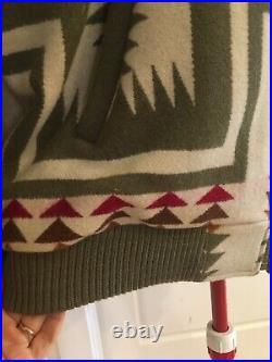 PENDLETON Vtg Western native American Chief Joseph aztec Jacket Coat Sz XL Zip