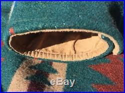 PENDLETON WESTERN Wear WOOL BLANKET Jacket COAT NAVAJO INDIAN Vintage medium