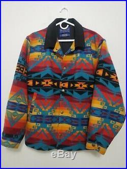 PENDLETON Western Wear Wool Blanket Jacket XL Coat Snap Excellent Cond! UNIQUE
