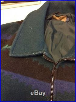 PENDLETON Wool Blanket WOW Patterned Jacket Coat Mens L High Grade Western Wear