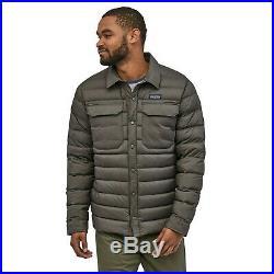 Patagonia Silent Down Shirt Jacket Coat Forge Grey Men's Large L