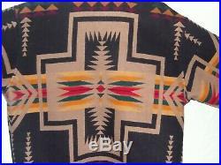 Pendleton AZTEC Harding Coat Jacket Blanket Western Wear Black MADE IN THE USA L