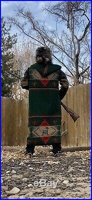 Pendleton Capote Pendleton Blanket Coat Long Jacket Mountain Man Reversible