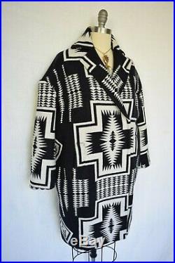Pendleton Harding cocoon coat wool blanket AZTEC Southwestern Tribal jacket NWT