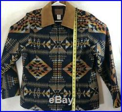 Pendleton High Grade Western/Indian Wear Blanket Coat Full Zip Jacket XL Vintag