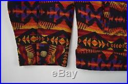 Pendleton High Grade Western Vintage Wool Navajo Aztec Blanket Jacket XL