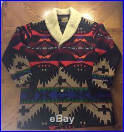 Pendleton High Grade Western Wear Indian Blanket Coat Jacket Size 44 Made In USA