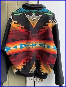 Pendleton High Grade Western Wear Jacket Coat Aztec Indian Blanket Men's XL