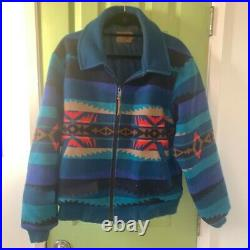 Pendleton High Grade Western Wear Jacket Coat Aztec Indian Blue Men's SM