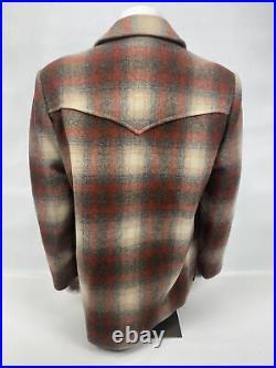 Pendleton High Grade Western Wear Jacket Coat Mens Size 46 Plaid