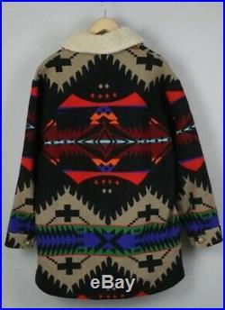 Pendleton High Grade Western Wear Jacket Coat Shearling Size 40 M Aztec Blanket