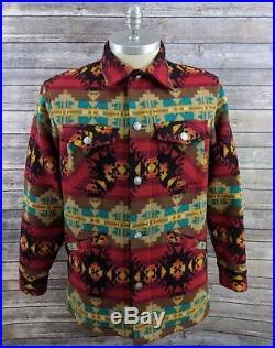 Pendleton High Grade Western Wear Mens Jacket Aztec Native Indian Blanket Large