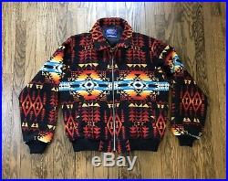 Pendleton High Grade Western Wear Mens Jacket Coat Aztec Indian Blanket Large
